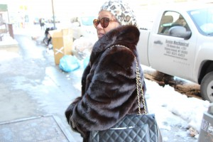 marianna hewitt mom family fur coat new york fashion week street style