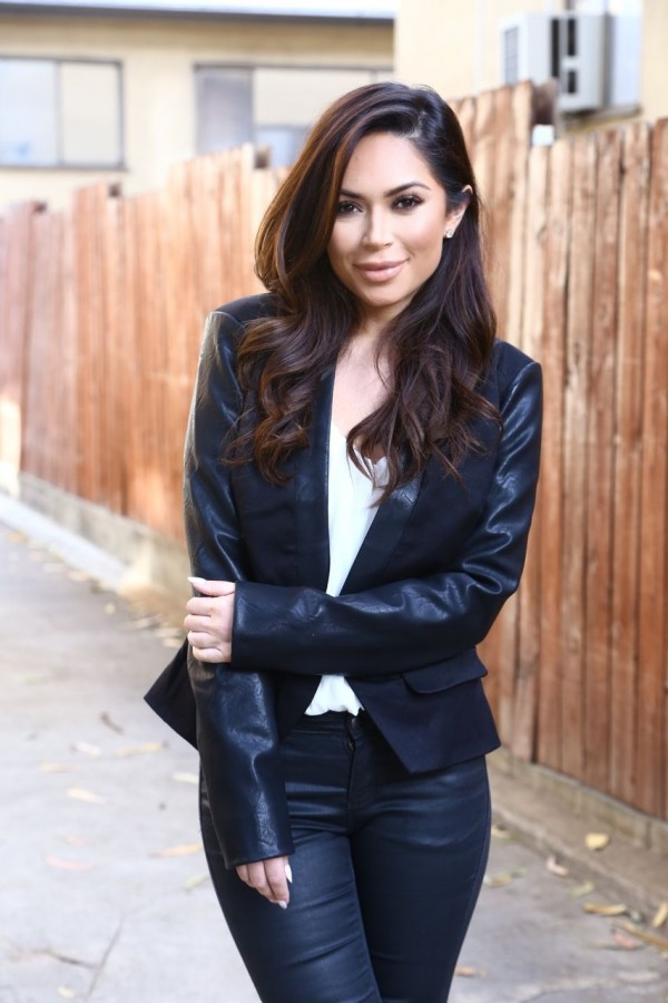 marianna hewitt celeb boutique leather jacket fashion blogger los angeles zara topshop hot miami styles