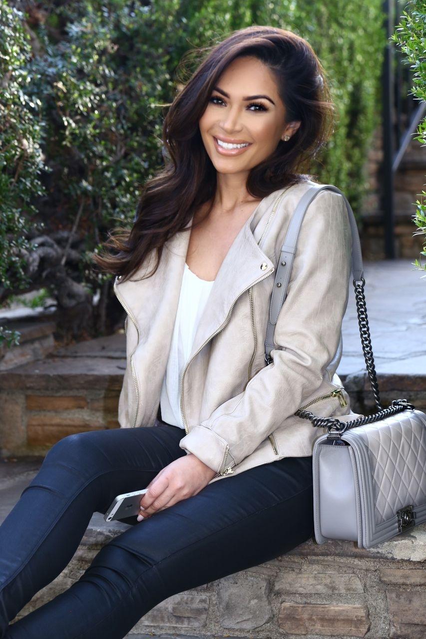 Marianna Hewitt Celeb Boutique Tan Jacket Christian