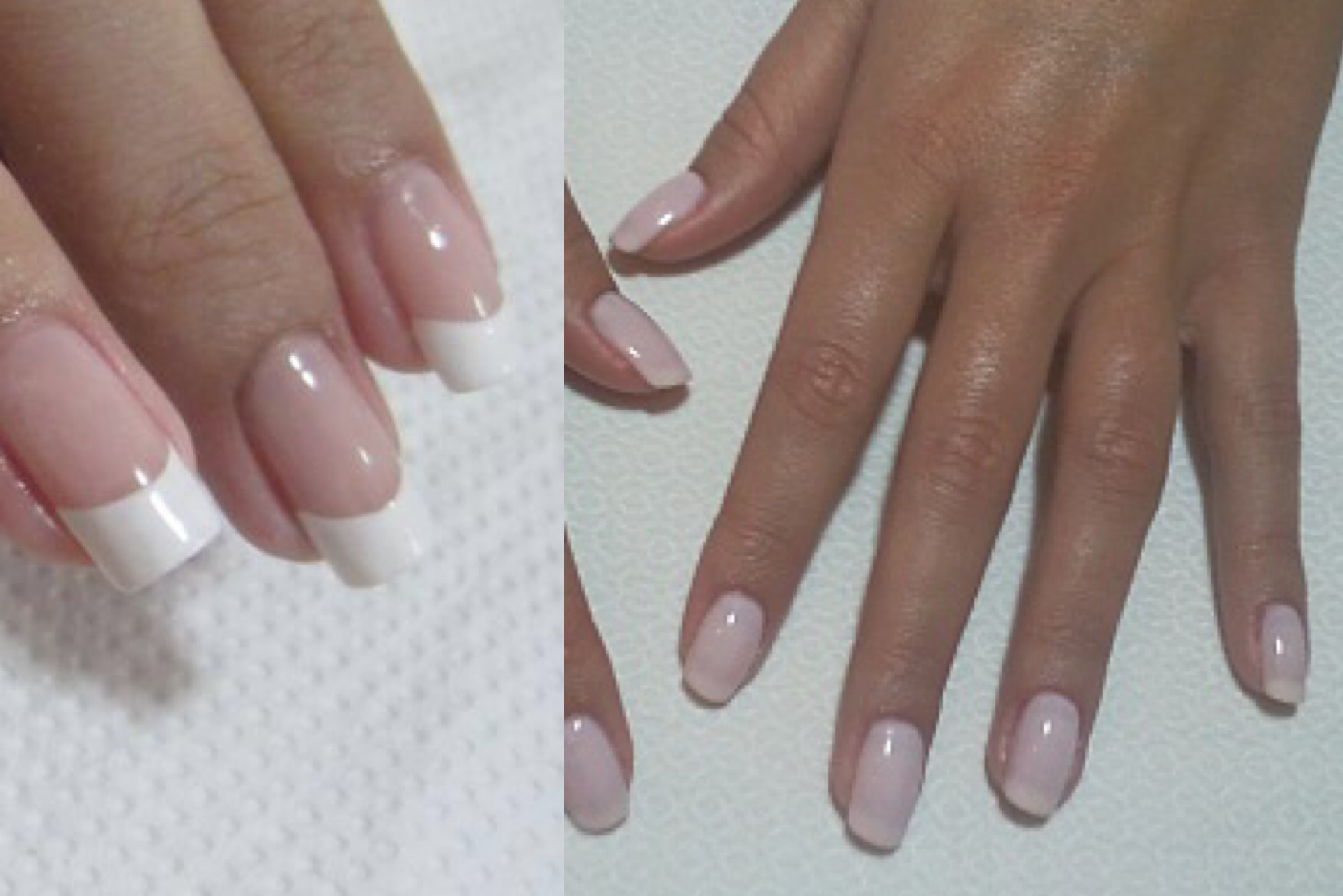 French manicure vs fake nails