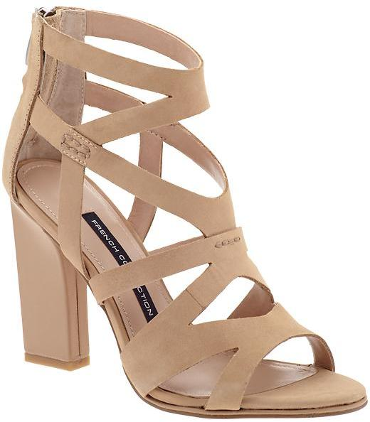 marianna hewitt blog nude sandals wedge heels - La La Mer by