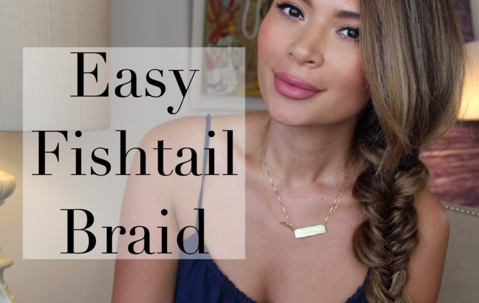 marianna hewitt easy messy fishtail braid hair tutorial lalamer pinterest step by step