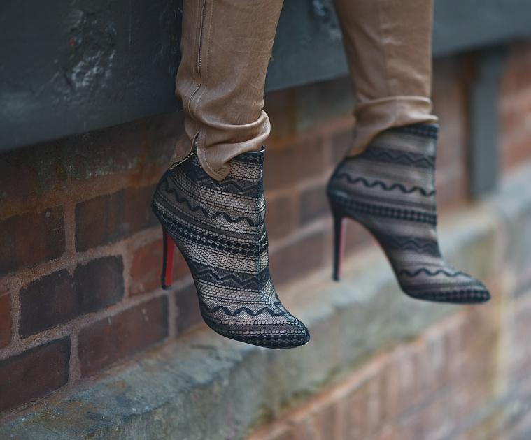 free shipping 5f157 fee4e marianna hewitt lace christian louboutin lace booties la la ...